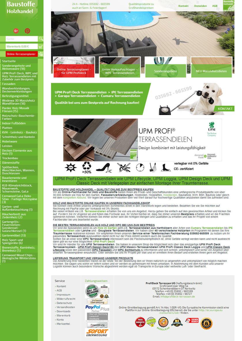 Baustoffe Holzhandel Webdesign Cottbus Lohmann Und Robinski